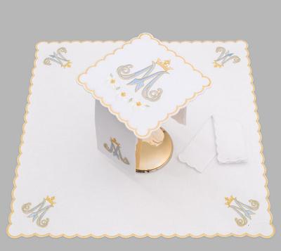 Marian altar linen AL-SET-6