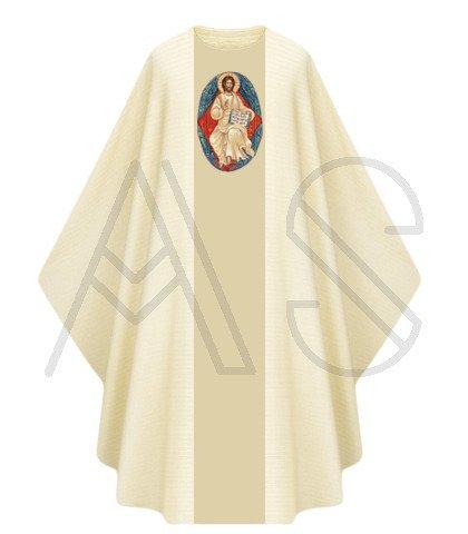 """Chasuble gothique """"Jésus est ressuscité"""" G446-AC"""
