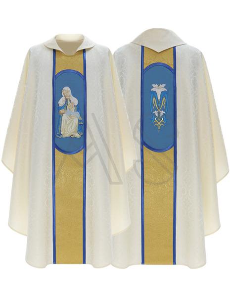 """Chasuble gothique """"Notre Dame de la Providence"""" 451-NG25"""