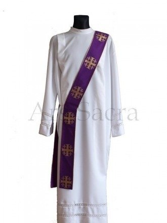 """Étole de diacre '""""Croix de Jérusalem"""" SD103-K"""