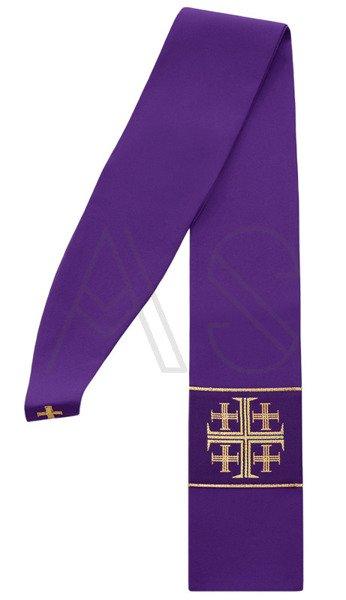 """Étole gothique '""""Croix de Jérusalem"""" SZ1-F"""