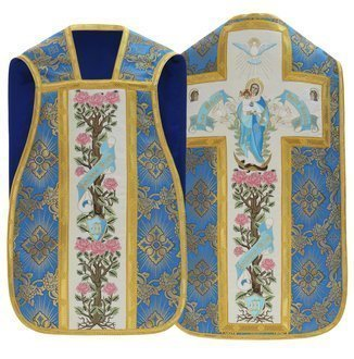 """Marianisches römische Kasel """"Ave Maria"""" R473-N9"""