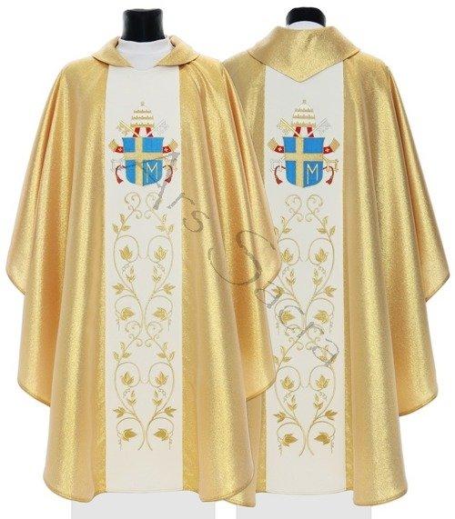 """Gotische Kasel """"Wappen von Johannes Paul II"""" 569-G"""