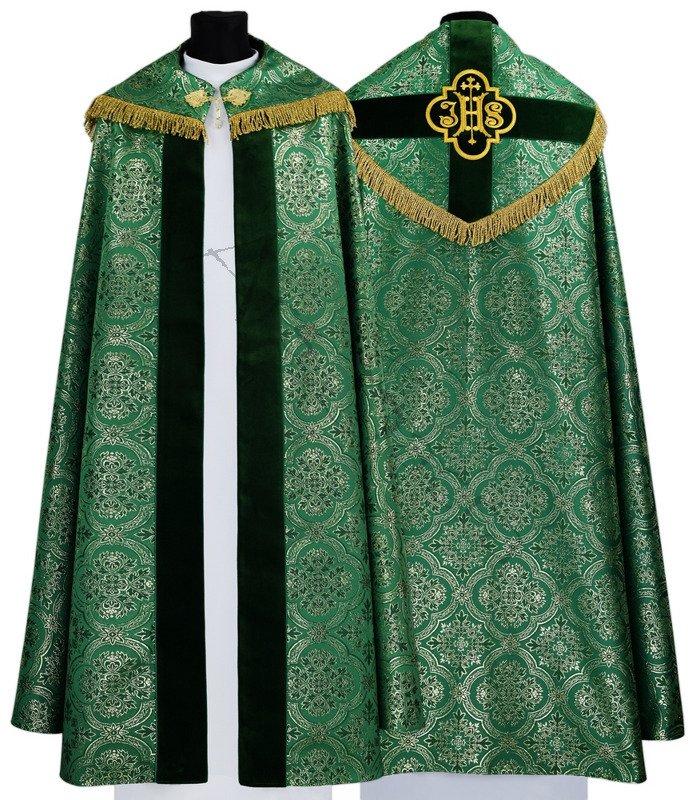 Capa pluvial gótica K208-AZ14 verde   sin forro   Vestimentas ... d33101a9d4