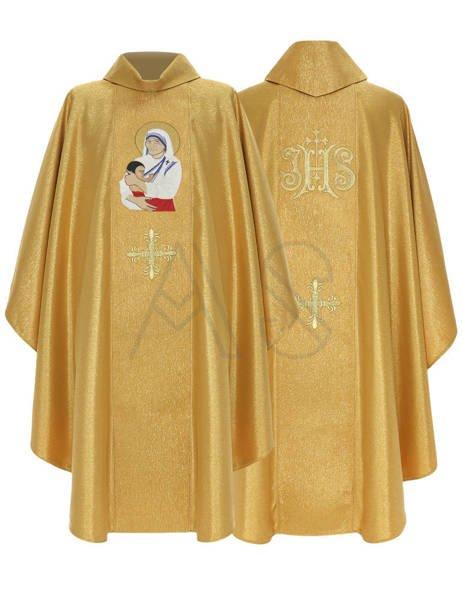 """Casulla gótica """"Santa Teresa de Calcuta"""" 433-G63g"""